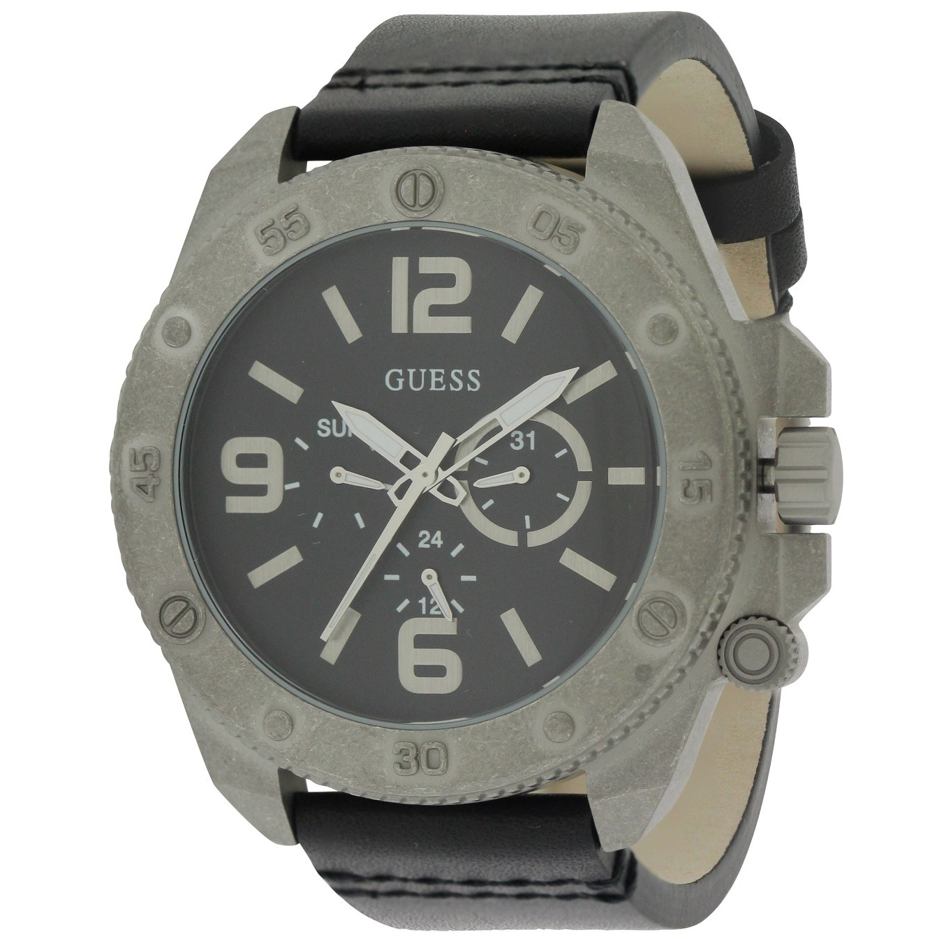 Guess Men's W0659G1 Multifunction Leather Watch (Watch), ...