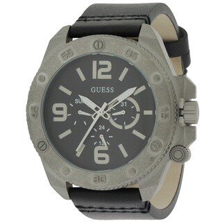Guess Men's W0659G1 Multifunction Leather Watch
