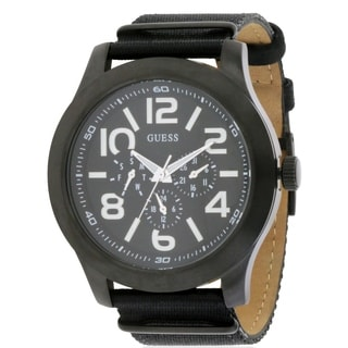 Guess W11623G1 Men's Rugged Black Fabric Chronograph Watch
