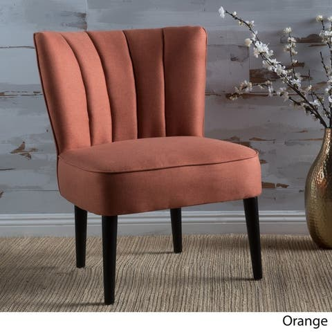 Erena Fabric Channel Accent Chair by Christopher Knight Home