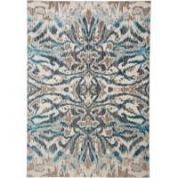 "Grand Bazaar Arsene Aqua/Haze Area Rug (7'10"" x 11') - 7'10"" x 11'"