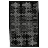"Grand Bazaar Marne Black/ Charcoal Area Rug (7'6"" x 10'6"") - 7'6 x 10'6"
