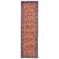 "Grand Bazaar Dubois Red/ Navy Runner/ Tread (2'3"" x 8') - 2'3"" x 8'"