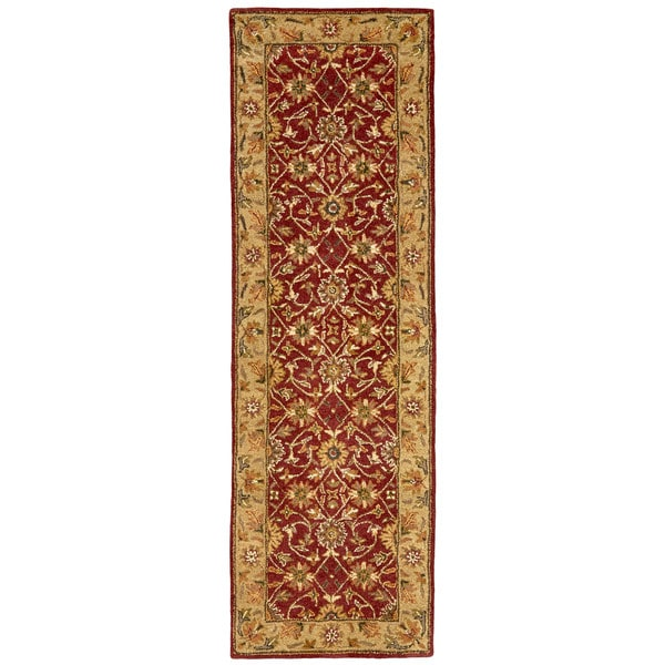 "Grand Bazaar Hadfield Red/ Light Gold Runner/ Tread (2'6"" x 8') - 2'6 x 8'"