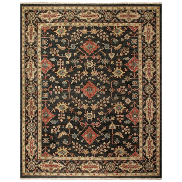 shop grand bazaar albemarle black black area rug 2 39 x 3 39 on sale free shipping today. Black Bedroom Furniture Sets. Home Design Ideas