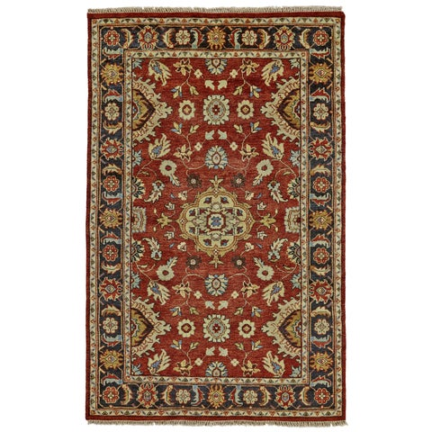 Grand Bazaar Alden Red/ Black Area Rug - 2' x 3'