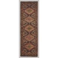 Grand Bazaar Kartum Brown/ Brown Runner/ Tread - 2'6 x 8'