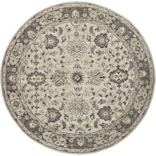 Grand Bazaar Gray Tufted Botticino Round Rug (8' x 8')