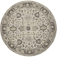 Grand Bazaar Botticino Gray Round Area Rug (8' x 8') - 8' x 8'