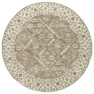 Grand Bazaar Botticino Sage Wool Tufted Rug (8'x8')