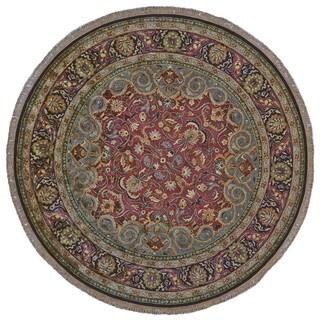 Grand Bazaar Plum Tufted Bower Rug (8' x 8' round)