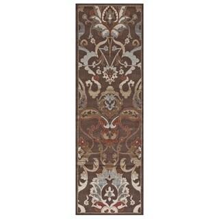 Grand Bazaar Atwood 568R-3235 Chocolate Runner/ Tread - 3' x 8'