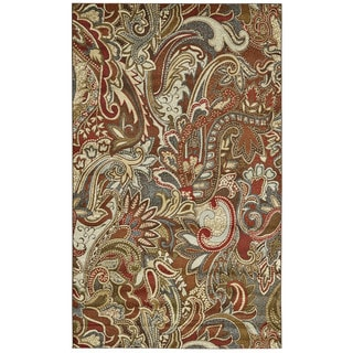 "Grand Bazaar Atwood Crimson/ Multi Runner/ Tread (2'10"" x 7'10"") - 3' x 8'"