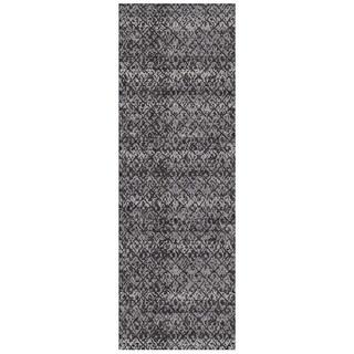 """Grand Bazaar Guilia Black / Dark Gray Runner/ Tread (2'10"""" x 7'10"""") - 3' x 8'"""