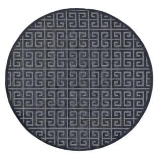 Grand Bazaar Marne Black/ Charcoal Machine-made Rug (7'6 Round)