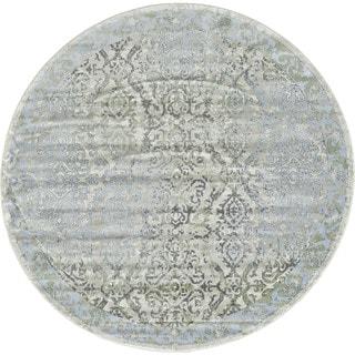 Grand Bazaar Alessandria Ice / Birch Round Area Rug (8' x 8') - 8' x 8'