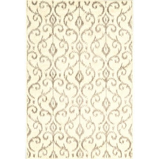 "Grand Bazaar Nahele 603R-3842 Cream/ Gray Area Rug (2'2"" x 4') - 2'2 x 4'"