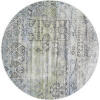 Grand Bazaar Alessandria Mint / Taupe Round Area Rug (8' x 8') - 8' x 8'