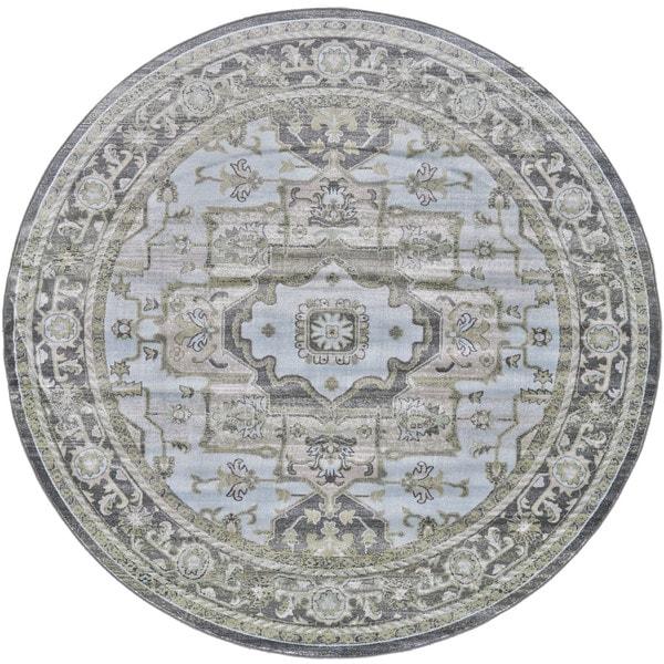Grand Bazaar Alessandria Taupe / Castle Round Area Rug (8' x 8') - 8' x 8'