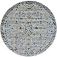 Grand Bazaar Alessandria 661R-3378 Birch / Sterling Round Area Rug (8' x 8') - 8' x 8'