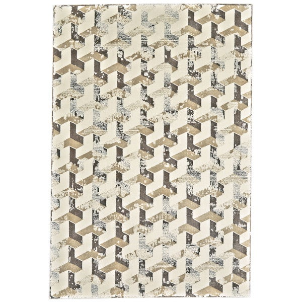 "Grand Bazaar Nahele Cream / Silver Area Rug (2'2"" x 4') - 2'2 x 4'"