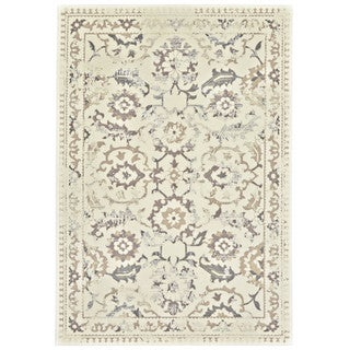 "Grand Bazaar Nahele 603R-3861 Cream/ Gray Area Rug (2'2"" x 4') - 2'2 x 4'"