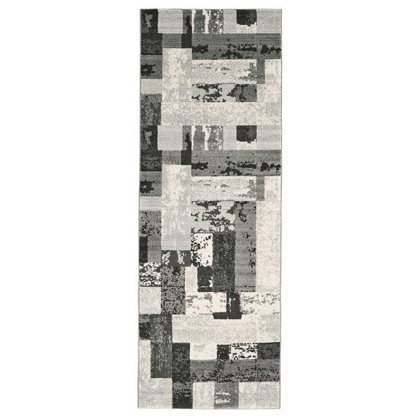 "Grand Bazaar Perry Slate Runner/ Tread (2'10"" x 7'10"") - 3' x 8'"