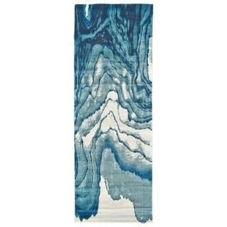 "Grand Bazaar Omari Atlantic Runner/ Tread (2'10"" x 9'10"") - 2'10"" x 9'10"""