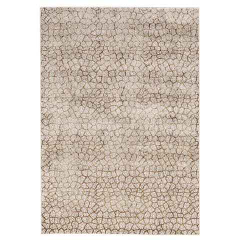Grand Bazaar Herbert Light Grey / Brown Round Area Rug - 8' x 8' Round