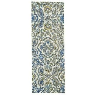 Grand Bazaar Omari Blue Polypropylene Machine-made Area Rug (2'10x9'10) - 3' x 10'