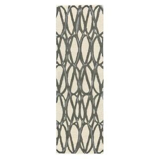Grand Bazaar Archipelago Titanium Tufted Rug (2'6 x 8')