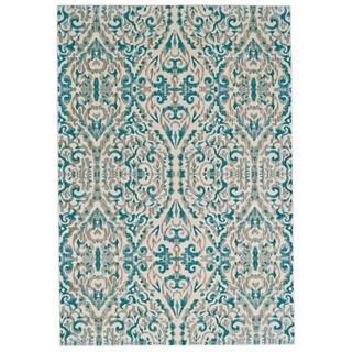 "Grand Bazaar Arsene Turquoise Runner/ Tread (2'7"" x 8') - 2'7"" x 8'"