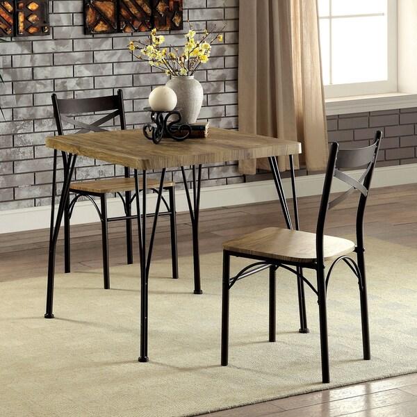 Furniture Of America Hathway Industrial 3 Piece Dark Bronze Compact Dining  Set