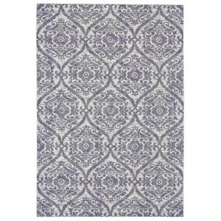 Grand Bazaar Machine Made Undira Haze Purple Rug (2'10 x 7'10) - 3' x 8'