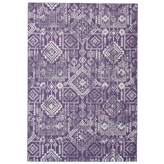 Grand Bazaar Machine Made Undira Violet Polypropylene Rug (2'10 x 7'10) - 3' x 8'