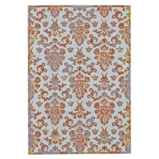 Grand Bazaar Undira Orange Polypropylene Machine-made Area Rug (2'10 x 7'10) - 3' x 8'