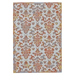 Grand Bazaar Undira Orange Polypropylene Machine-made Area Rug (3' x 8')