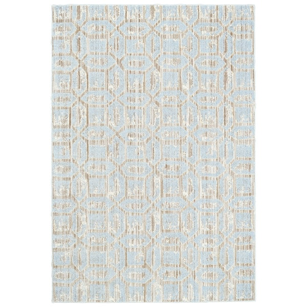 "Grand Bazaar Carini Ice Area Rug (2'2"" x 4') - 2'2 x 4'"