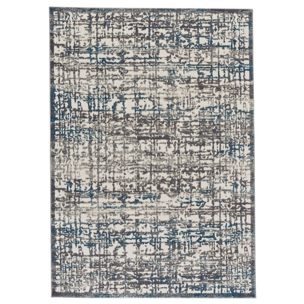 "Grand Bazaar Plaza Gray / Turquoise Area Rug (2'2"" x 4') - 2'2 x 4'"