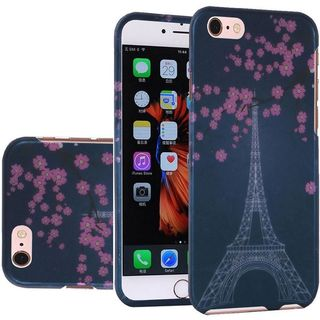 Insten Blue/ Pink Eiffel Tower Hard Snap-on Rubberized Matte Case Cover For Apple iPhone 5/ 5S/ SE