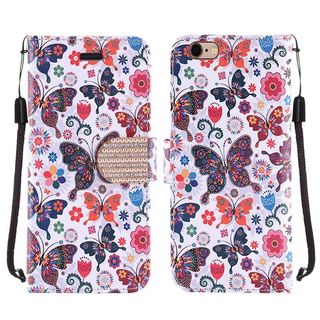 Insten Leather Case Cover Lanyard with Stand/ Diamond For Apple iPhone 6/ 6s