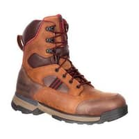 Men's Rocky 8in Mobilwelt Composite Toe Waterproof Work Boot Brown Leather
