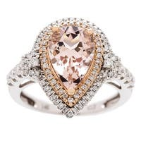 14-karat Two-tone Gold Morganite and Diamond Ring by Anika and August