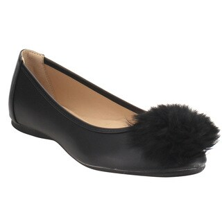 Forever IC55 Women's Pom Pom Slip-on Flats