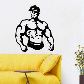 Fight Club Bodybuilder Decal Gym Wall Decor Fitness Vinyl Sticker Interior Art Mural Decor Sticker D