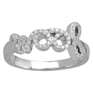 Tender Voices Sterling Silver 1/5ctTW Diamond Woof Ring