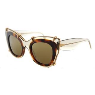 Pomellato PM 0003S 003 Transparent Grey Plastic Square Sunglasses with Grey Mirror Lens