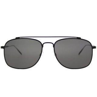 Tomas Maier tm7 001 Navigator Black Metal Aviator Sunglasses with Black Lens