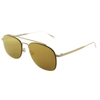 Tomas Maier tm7 006 Navigator Gold Metal Aviator Sunglasses with Gold Mirror Lens