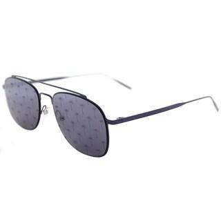 Tomas Maier tm7 007 Navigator Blue Metal Aviator Sunglasses with Blue Mirror Palm Lens